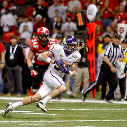 December 22, 2012; New Orleans, LA, USA; East Carolina Pirates wide receiver Danny Webster (33) runs for a touchdown against the Louisiana-Lafayette Ragin Cajuns during the second quarter of the New Orleans Bowl at the Mercedes-Benz Superdome. Mandatory Credit: Derick E. Hingle-USA TODAY Sports