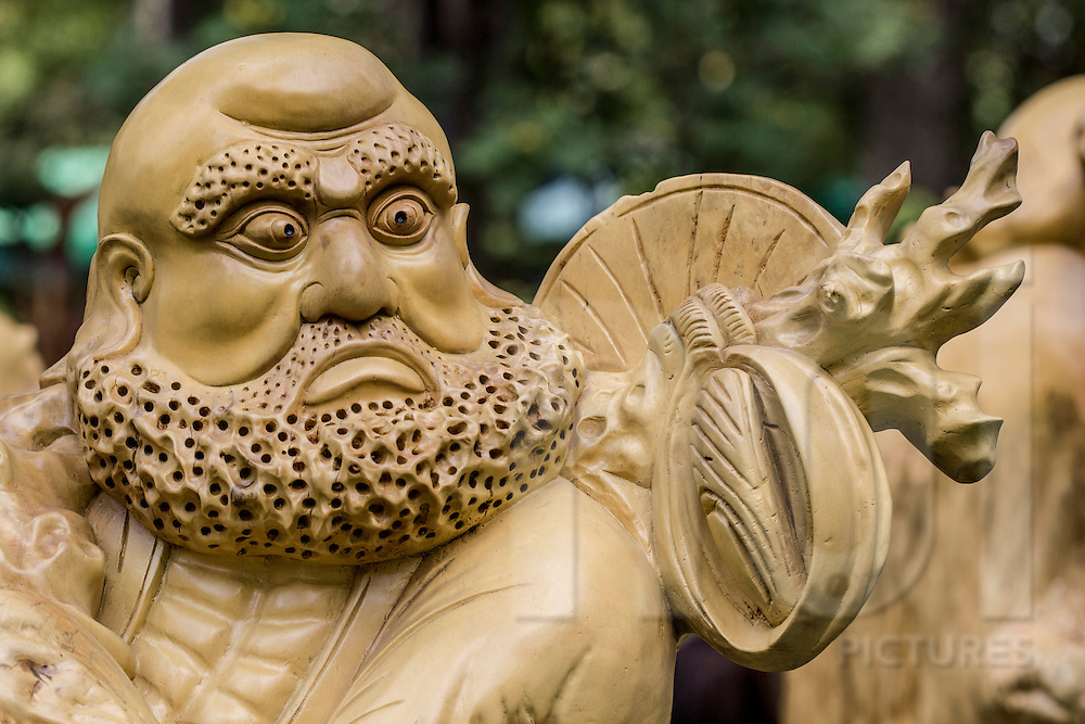 Close-up of stone carving in a park, Ho Chi Minh City, Vietnam, Southeast Asia