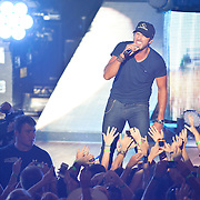"COLUMBIA, MD - July 15th, 2012 - Luke Bryan performs at Merriweather Post Pavilion. Bryan's 2011 album, Tailgates & Tanlines, included the number one singles  ""I Don't Want This Night to End"" and ""Drunk on You"". (Photo by Kyle Gustafson/For The Washington Post)"