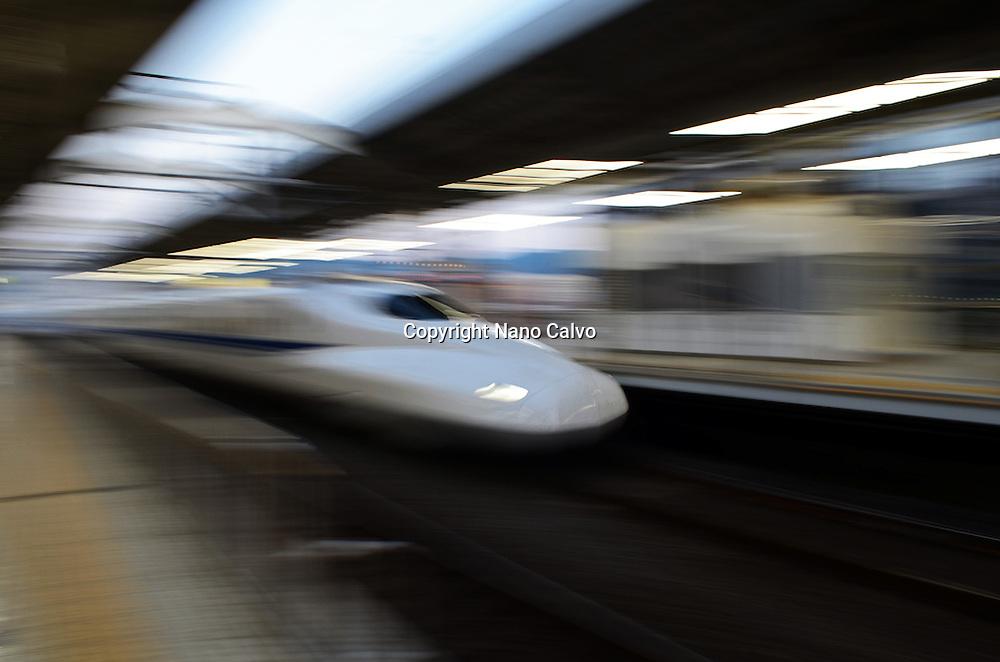 Shinkansen High Speed train, Kyoto, Japan