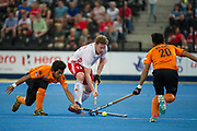 Michael Hoare. England v Malaysia - 3rd/4th Playoff - Hockey World League Semi Final, Lee Valley Hockey and Tennis Centre, London, United Kingdom on 25 June 2017. Photo: Simon Parker
