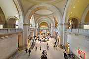 Great Hall of the Metropolitan Museum of Art in Manhattan, New York.