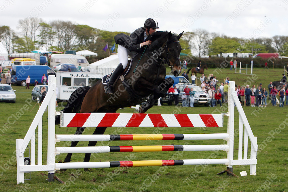 Joan Greene on Merrion 10 at the annual Newmarket-on-Fergus show on Sunday.<br />