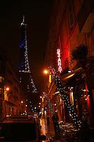 The Eiffel Tower, near Au Bon Accueil restaurant, .Paris 7 ...December 8, 2009..photograph by Owen Franken for the NY Times