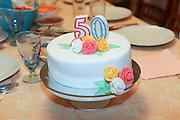 50 years birthday cake