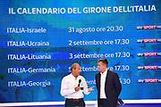 Ettore Messina, Alessandro Mamoli<br /> Raduno Nazionale Italiana Maschile Senior<br /> Media Day - Sky <br /> Milano, 21/07/2017<br /> Foto Ciamillo-Castoria/ M.Ceretti