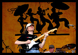 April 30th, 2006. New Orleans, Louisiana. Jazzfest . The New Orleans Jazz and Heritage festival. Legendary guitarist Sonny Landreth on the Acura stage.