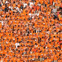 The big orange nation in Neyland Stadium, Knoxville, Tennessee await kickoff.