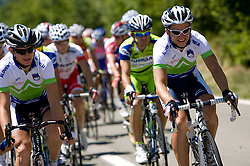 Grega Bole  (SLO) of Slovenian National Team and Matic Strgar  (SLO) of Slovenian National Team at 1st stage of Tour de Slovenie 2009 from Koper (SLO) to Villach (AUT),  229 km, on June 18 2009, in Koper, Slovenia. (Photo by Vid Ponikvar / Sportida)
