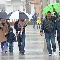 Rain in Santa Monica on Sunday, March 25, 2012.