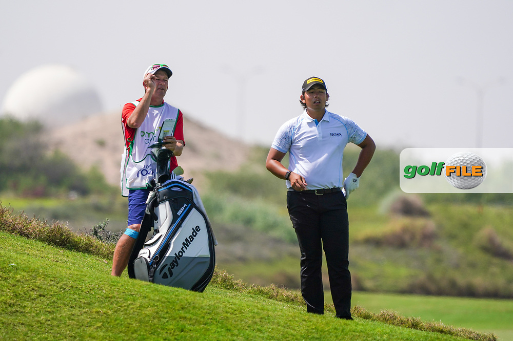 Gavin Green (MAS) on the 9th during Round 3 of the Oman Open 2020 at the Al Mouj Golf Club, Muscat, Oman . 29/02/2020<br /> Picture: Golffile | Thos Caffrey<br /> <br /> <br /> All photo usage must carry mandatory copyright credit (© Golffile | Thos Caffrey)