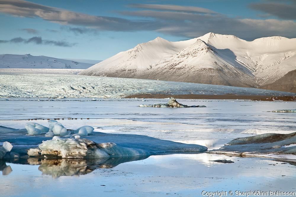 The Glacier Lagoon / Jökulsárlón, south coast Iceland