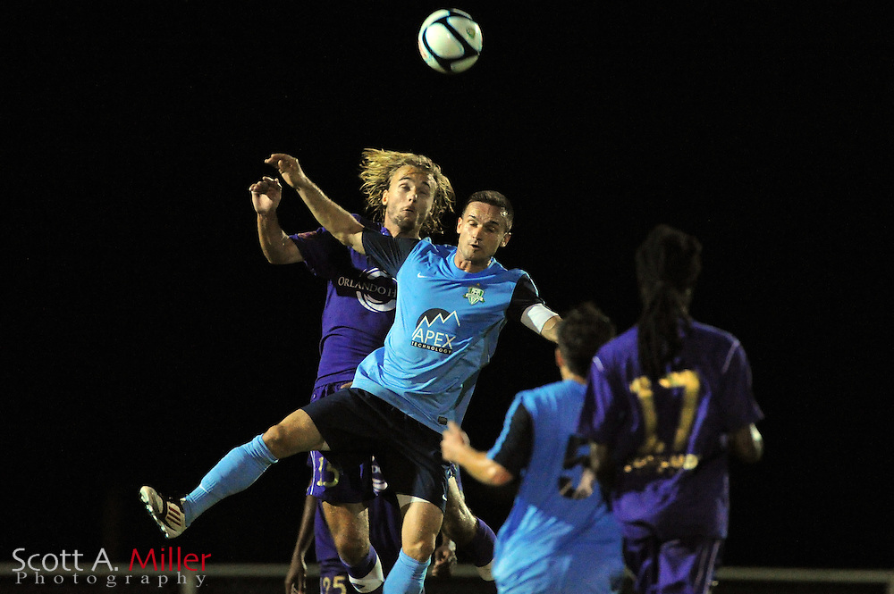 Orlando City U23 player Ryan Griffin (15) in action during the Lions US Open Cup game against Jacksonville United on May 15, 2012 in Sanford, Fla. ..©2012 Scott A. Miller..