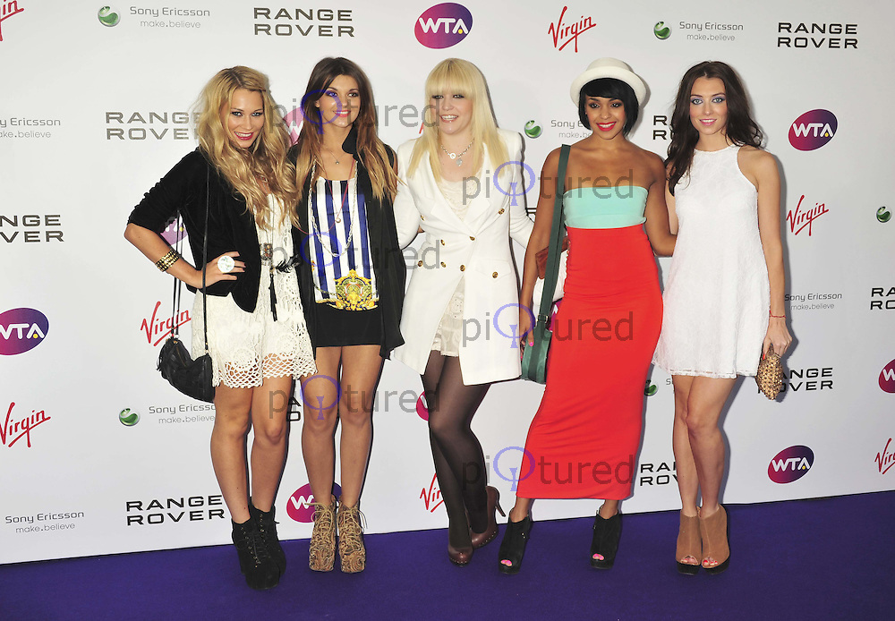 Emily Biggs, Lauren Deegan, Bianca Claxton, Jessica Agombar and Sian Charlesworth of Parade WTA Pre-Wimbledon Party, The Roof Gardens, Kensington High Street, London, UK, 16 June 2011:  Contact: Rich@Piqtured.com +44(0)7941 079620 (Picture by Alan Roxborough)