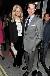 ALEXANDRA FINLAY and the HON.JAMES TOLLEMACHE at the launch of the Johnnie Walker Blue Label Club held at The Scotch, Mason's Yard, London on 1st May 2012.