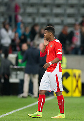 30.05.2014, Tivoli Stadion, Innsbruck, AUT, Fussball Testspiel, Oesterreich vs Island, im Bild Valentino Lazaro (AUT) // Valentino Lazaro (AUT) disappointed during the International Friendly between Austria and Iceland at the Tivoli Stadion in Innsbruck, Austria on 2014/05/30. EXPA Pictures © 2014, PhotoCredit: EXPA/ Johann Groder