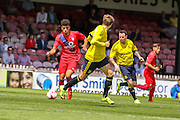 Ben Godrey during the Friendly match between York City and Middlesbrough at Bootham Crescent, York, England on 11 July 2015. Photo by Simon Davies.