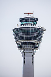 THEMENBILD - Airport Muenchen, Franz Josef Strauß (IATA: MUC, ICAO: EDDM), Der Flughafen Muenchen zählt zu den groessten Drehkreuzen Europas, rund 100 Fluggesellschaften verbinden ihn mit 230 Zielen in 70 Laendern, im Bild der Tower des Flughafens Muenchen // THEME IMAGE, FEATURE - Airport Munich, Franz Josef Strauss (IATA: MUC, ICAO: EDDM), The airport Munich is one of the largest hubs in Europe, approximately 100 airlines connect it to 230 destinations in 70 countries. picture shows: the tower at the airport Munich, Munich, Germany on 2012/05/06. EXPA Pictures © 2012, PhotoCredit: EXPA/ Juergen Feichter