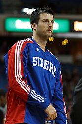 March 18, 2011; Sacramento, CA, USA;  Philadelphia 76ers small forward Jason Kapono (72) warms up before the game against the Sacramento Kings at the Power Balance Pavilion. Philadelphia defeated Sacramento 102-80.