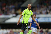 Brighton striker, Bobby Zamora, Robert Zamora on his return during the Sky Bet Championship match between Ipswich Town and Brighton and Hove Albion at Portman Road, Ipswich, England on 29 August 2015.