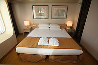 Voyages of Discovery's newly refurbished ship mv Voyager..Balcony Suite