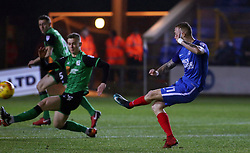 Marcus Maddison of Peterborough United scores his sides opening goal of the game against Scunthorpe United - Mandatory by-line: Joe Dent/JMP - 13/02/2018 - FOOTBALL - ABAX Stadium - Peterborough, England - Peterborough United v Scunthorpe United - Sky Bet League One