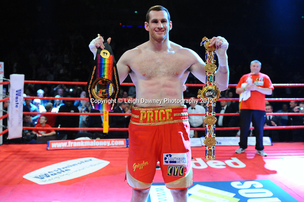 David Price defeats Audley Harrison to retain the British & CommonwealthTitle at the Echo Arena, Liverpool on 13th October 2012. Frank Maloney Promotions © Leigh Dawney Photography 2012.