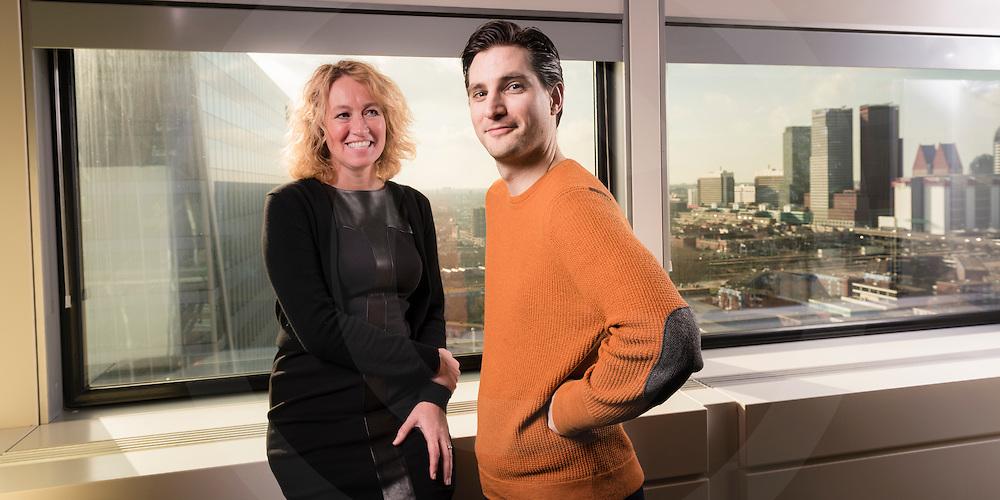 holland8 ,holland8 links Herna Verhagen CEO van Postnl tesamen Nalden (Ronald) van We Transfer