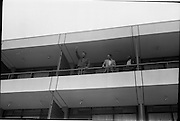 14/07/1972<br /> 07/14/1972<br /> 14 July 1972<br /> Muhammad Ali at Oppermans Country Club Hotel, Kilternan, Co Dublin. Muhammad Ali proclaims that he is the greatest. on the balcony of his room with his Manager Angelo Dundee.