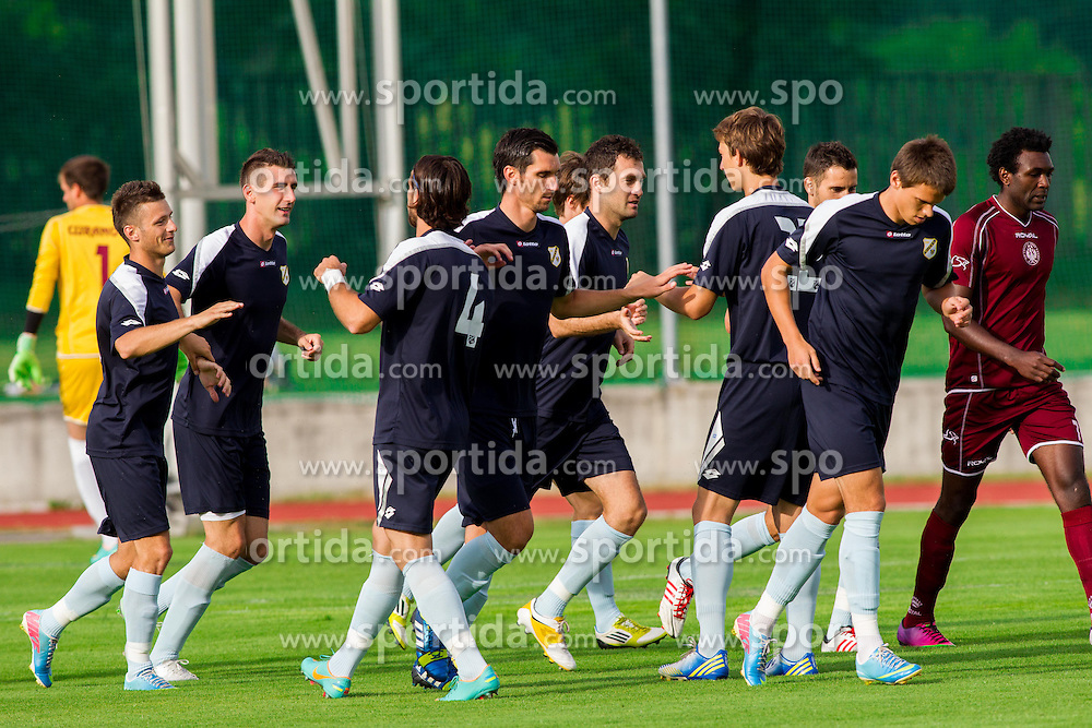 Players of Rijeka celebrate during Friendly football match between NK Triglav and HNK Rijeka on June 25, 2013 in Sports park Kranj, Slovenia. (Photo by Vid Ponikvar / Sportida.com)