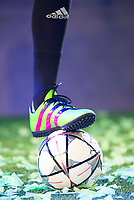 Goalkeeper of Real Madrid Kaylor navas with the new Adidas shoes ACE 16 at the 1v1 tournament to find the boss of Madrid at the Museo del Ferrocarril in Madrid, March 09, 2016. (ALTERPHOTOS/BorjaB.Hojas)
