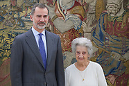 012819 King Felipe VI attends an audience with Annette Cabelli