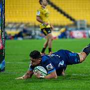 Action during the Super rugby union game played between Hurricanes 1s XV v Blues  played at  Westpac Stadium, Wellington, New Zealand, on 15 June 2019.   Final score 29-24 to the Hurricanes.