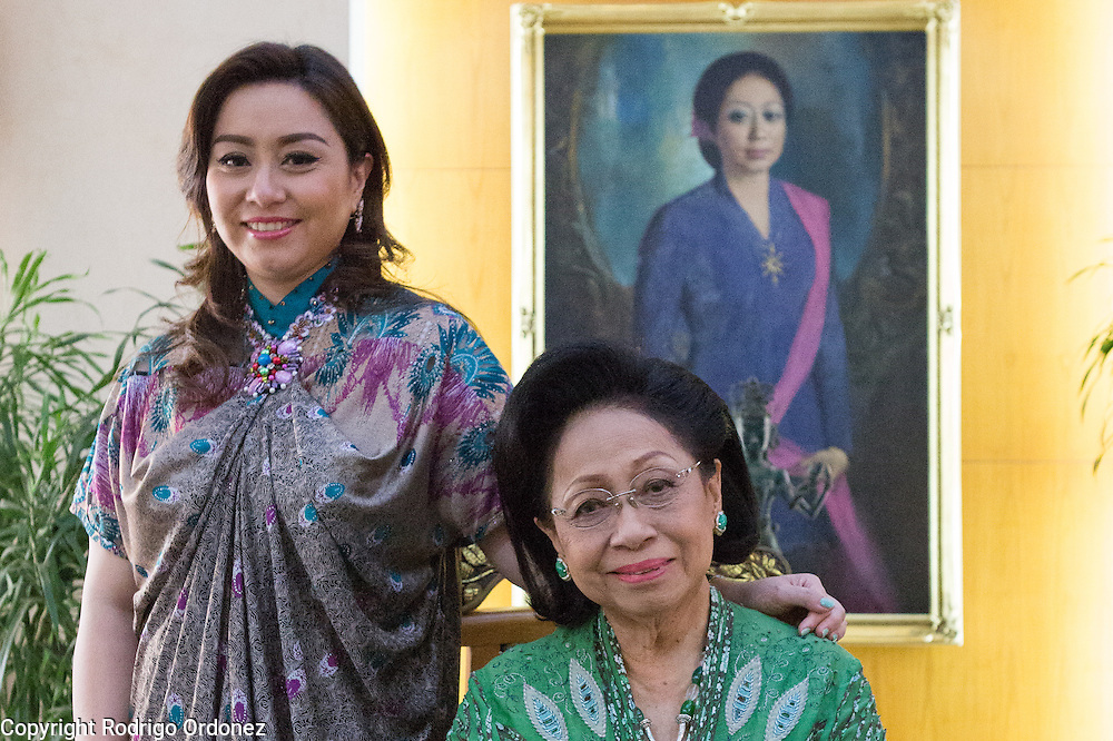 Martha Tilaar (right), founder of the Martha Tilaar Group, and her daughter Wulan Tilaar Widarto pose for a portrait at Martha Tilaar's office in East Jakarta, Indonesia, on July 2, 2015.