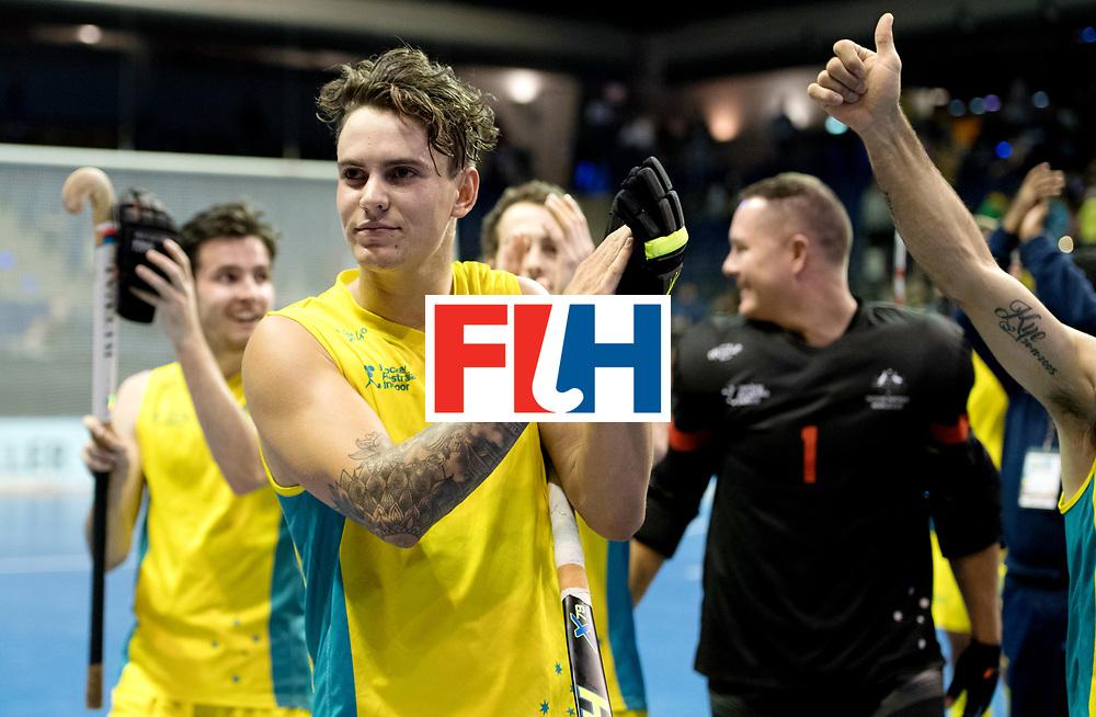 BERLIN - Indoor Hockey World Cup<br /> Quarterfinal 4: Australia - Belgium<br /> foto: Jake Sherren.<br /> WORLDSPORTPICS COPYRIGHT FRANK UIJLENBROEK