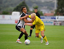 Bristol Rovers' Ryan Broom is challenged by Bath City's Miles Welch-Hayes - Mandatory by-line: Neil Brookman/JMP - 26/07/2017 - FOOTBALL - Twerton Park - Bath, England - Bath City v Bristol Rovers - Pre-season friendly