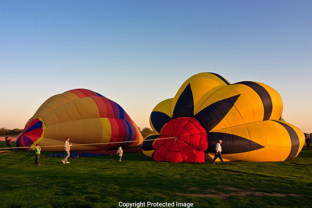 Early morning balloon launch,Yuma Arizona