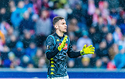 14.03.2019, Red Bull Arena, Salzburg, AUT, UEFA EL, FC Red Bull Salzburg vs SSC Napoli, Achtelfinale, Rückspiel, im Bild Alex Meret (SSC Napoli) // during the UEFA Europa League round of 16, 2nd leg match between FC Red Bull Salzburg and SSC Napoli at the Red Bull Arena in Salzburg, Austria on 2019/03/14. EXPA Pictures © 2019, PhotoCredit: EXPA/ Stefan Adelsberger