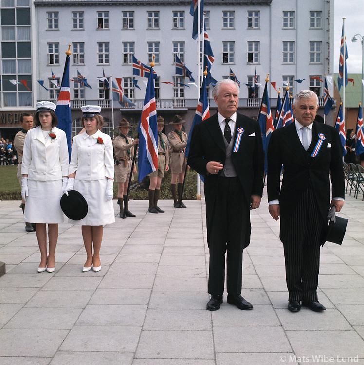 &Aacute;sgeir &Aacute;sgeirsson og Bjarni Benediktsson &aacute; Austurvelli, 1963<br /> <br /> President &Aacute;sgeir &Aacute;sgeirsson and Prime Minister Bjarni Benediktsson on Austurv&ouml;llur square in Reykjav&iacute;k, 1963