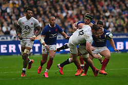 February 2, 2020, Saint Denis, Seine Saint Denis, France: The Center of England Team OWEN FARRELL in action during the Guinness Six Nations Rugby tournament between France and  England at the Stade de France - St Denis - France.. France won 24-17 (Credit Image: © Pierre Stevenin/ZUMA Wire)