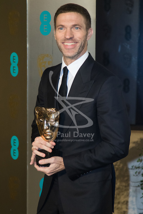 Photo Must Be Credited ©Alpha Press<br /> Travis Knight arrives at the EE British Academy Film Awards after party dinner at the Grosvenor House Hotel in London.