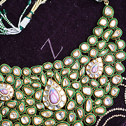 Close up short of the necklace.