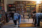Residents clean up after an English as a Second Language class at the Ellison Park Apartments in Rochester, New York on Tuesday, January 3, 2017. The complex is a Naturally Occurring Retirement Community, or NORC, home to many Russian and Ukrainian immigrants.