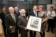 A unique collection of photographs that captures the essence of life in 1950's Ireland was launched last night (Tuesday 6th November) by An Taoiseach, Mr Enda Kenny TD at the RHA Gallery, Ely Place, Dublin 2...Pictured at the event were;.Padraig MacBrian, Founder Director, Lensmen, Sean Walsh, Irish Photo Archives, Andrew Farren, Founder Director, Lensmen, An Taoiseach, Mr Enda Kenny, TD and Louise Doherty formerly of Lensmen....The 1950s Ireland in Pictures, which is published by O'Brien Press, contains 130 images from the Lensmen Photographic Archives. The stunning and thought-provoking images will bring back memories of the people, personalities and events that shaped the decade and offer a fascinating insight into the cultural and political events of that time..Lensmen, Ireland's premier photographers, was established in 1952 by Andrew Farren and Padraig MacBrian and this year celebrates 60 years in continuous business.  Lensmen Photographic Agency is the oldest leading press and social photographer in Ireland.  The Lensmen Collection - licensed to Irishphotoarchive.ie - comprises almost three million images documenting every aspect of life from the 1950s to to-day..The 1950s Ireland in pictures captures images from the world of entertainment and theatre; Olympic achievements and sporting events; horse-racing and show-jumping; politics and religion; industry and agriculture, and much more.  Christy Ring, Laurel and Hardy, Ronnie Delany, Tom Barry, Joseph Locke, Noel Purcell, Maeve Kyle, Leo Rowsome, Cyril Cusack, Siobhan McKenna, Vivien Leigh, Noel Coward and Michael MacLiammoir are among the well -known personalities in the book..The 1950's marked the last decade of 'old' Ireland when all communication was local.  It was prior to the introduction of television and the massive growth in international communications that ensued..A read through the 1950s Ireland in Pictures will capture the memories of those who lived through the decade, bring credibility to those