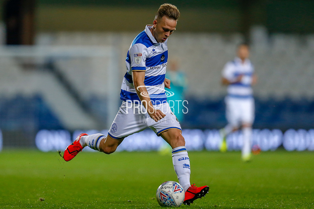 Queens Park Rangers defender Todd Kane (2) during the EFL Sky Bet Championship match between Queens Park Rangers and Swansea City at the Kiyan Prince Foundation Stadium, London, England on 21 August 2019.