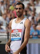 Jul 21, 2019; London, United Kingdom; High jump winner Majd Eddin (SYR) during the London Anniversary Games at London Stadium at  Queen Elizabeth Olympic Park.