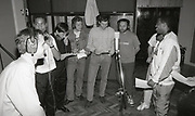 New Order & The England World Cup Squad, recording 'World In Motion' The Mill studios, Buckinghamshire, 1990