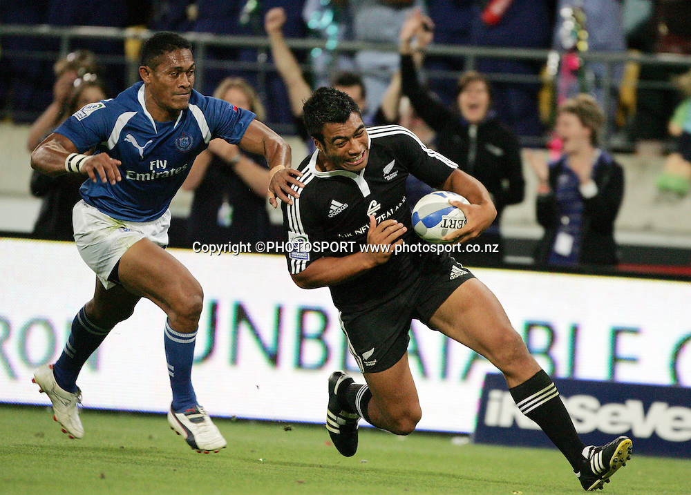Victor Vito. NZI International Sevens Final day 2, New Zealand v Samoa, Westpac Stadium, Wellington. New Zealand, Saturday 2 February 2008. Photo: Renee McKay/PHOTOSPORT