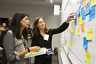Hunger, Brain, and City Workshop hosted by Feed 1st and the Lindau Lab<br /> <br /> Jessica Jerome of DePaul University, right, with moderator Chenab Navalkha of University of Chicago.