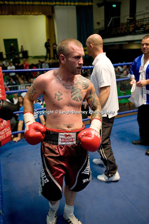 A defeated Duncan Cottier following his fight with Jamal Morrison at York Hall 4th October 2009. Promoted by David Coldwell,Hayemaker Promotions Credit: ©Leigh Dawney Photography